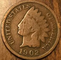 1902 USA INDIAN HEAD SMALL CENT PENNY