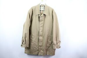 Brooks Brothers Outerwear Mens Large Full Zip Plaid Flannel Lined Trench Coat