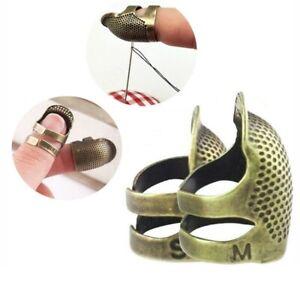 1 Best Design Adjustable Sewing Finger Protector Retro Metal Copper Thimble
