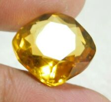 UNTREATED NATURAL 14.55 Cts CUSHION CUT  YELLOW SAPPHIRE GEMSTONES RM714