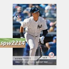 2018 Topps Now Gleyber Torres #112 Yankees Top Infield Prospect Makes MLB Debut