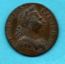 More details for 1774 king george iii halfpenny coin. non regal copper 1/2d. 8.9 grams.