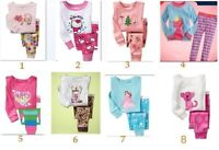 NEW Baby Toddler Girls Long Sleeve Pyjamas SET Sleepwear PJs size 2/3/4/5/6/7
