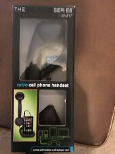 Matte Retro Black cell phone Handset Headsets