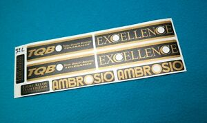 AMBROSIO EXCELLENCE TEAM EDITION REPLACEMENT RIM DECAL SET FOR 2 RIMS