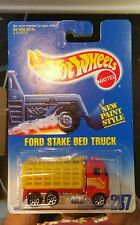 1991 Hot Wheels #237 Ford stake bed truck Yellow & Red