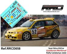DECAL/CALCA 1/43; Seat Ibiza KitCar; Menkerud-Gundersen; Rally Catalunya 2000