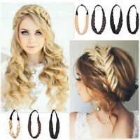 Fashion Womens Hair Plaited Elastic Headband Braided Hair Bands DIY Accessories