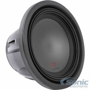 Alpine Type R 12 Inch 2250W Max 4 Ohm Round Car Power Audio Subwoofer | R-W12D4