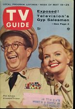 PHIL SILVERS ELISABETH FRASER TV GUIDE  MAY 9 1956