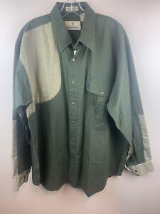 New Mens Browning Super Naturals Canvas Padded Shooting Shirt XL Olive