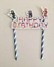 Lego NinjaGo Themed Cake Topper Kids Boys Birthday Party Decoration DIY