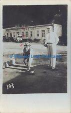 SPORTS BOWLS BOCHAS REAL PHOTO 1934 SALTA ROSARIO DE LA FRONTERA