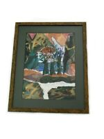 Abstract Landscape Painting Mixed Media Collage