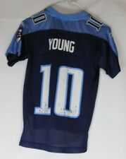 Young 10 Tennessee Titans American Football Jersey Shirt Youths Small Reebok