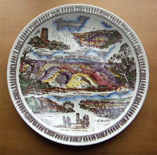 Vernon Kilns Grand Canyon multicolor collector plate~made for Fred Harvey-NR