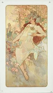 Vintage Style Alphonse Mucha Affiche Géant Autocollant Art Nouveau Autumn 1896