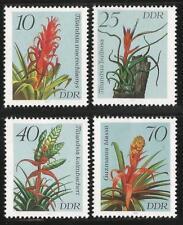 Germany (East) 1988 MNH - Flowers Bromeliads- Tillandsia Gazmania