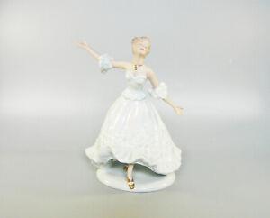 "WALLENDORF, LADY DANCING 9"", HANDPAINTED PORCELAIN FIGURINE ! (J059)"