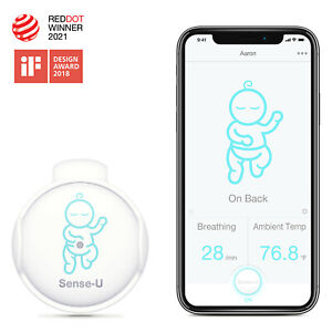 Sense-U Baby Monitor: Breathing Movement, Ambient Temp, Rollover (Refurbished)