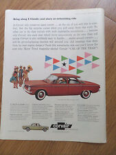 1960 Chevrolet Corvair Ad 700 Sedan & 5 Passenger Club Coupe