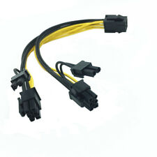 6-pin to 2x 6+2-pin (6-pin to 8-pin) Power Splitter Cable PCIE PCI Express PCI-E