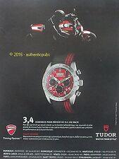 PUBLICITE TUDOR TACHYMETRE FASTRIDER MOTARD MOTO DUCATI DE 2012 FRENCH AD PUB