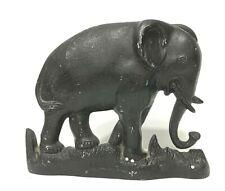 "VTG/Antique Cast Iron Door cast aluminum Stop Elephant 8"" x 6.5""inches"