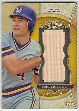 2013 Topps Triple Threads Unity Jumbo Relic - Paul Molitor - Brewers - Gold #7/9