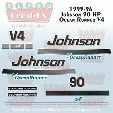 2003-07 Johnson 40 HP Outboard Reproduction 6 Pc Marine Vinyl Decals 2 Cylinder