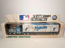 White Rose Collectibles 1/80 Diecast Semi Truck Peterbilt Florida Marlins MLB