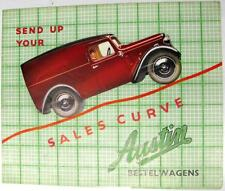 AUSTIN Seven Ten Twelve Delivery Van Commercial Sales Brochure 1938 #1584E Dutch