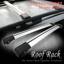 Rooftop Rack Rail Carries AERODYNAMIC Adjustable Cross Bars w/Clamps Base Kit