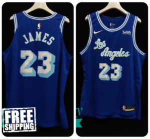 Los Angeles Lakers #23 Lebron James Blue Hardwood Classic Jersey Nike NBA 2021