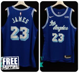 Los Angeles Lakers #23 Lebron James Blue Hardwood Classic Jersey Nike NBA 2021