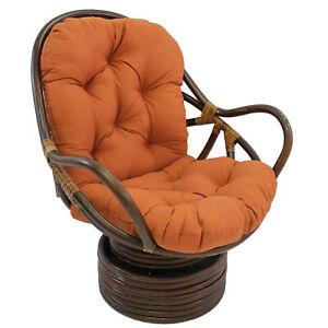 48-inch by 24-inch Solid Twill Swivel Rocker Cushion