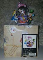 Disney Cheshire Cat Alice In Wonderland Spinning Tea Cup Snow Globe Mad Hatter