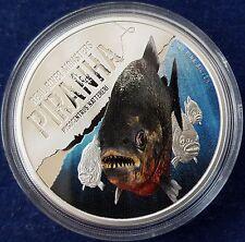 "MDS Niue Island 2 dollars 2013 pp/proof ""piraña-real River Monsters"", plata"