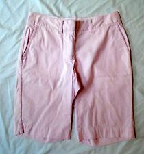 """L.L.Bean sz 8 shorts / pink&white pin stripes / inseam 11"""" / rise 9"""" / cttn-spnx"""