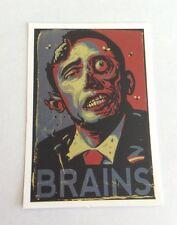 Pegatina/sticker/autocollant/ Adesivo/Etiket/ Aufkleber: Zombie / Brains / Obama