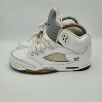 Nike Air Jordan Retro V 5 White Metallic 440888 130 Sz 7Y Womens sz 8.5