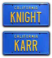 Knight Rider | KITT Trans Am | KNIGHT + KARR | STAMPED Prop License Plate Combo