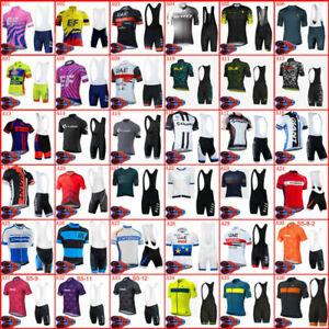 Men Cycling Short Jersey Bib Shorts Set Bike Outfits Shirt Padded Pants Kits