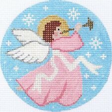 NEEDLEPOINT Handpainted Amanda Lawford CHRISTMAS ORNAMENT Angel