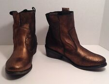 Charles By Charles David Womens Size 6.5 Bronze Dapper Motorcycle Boots $129
