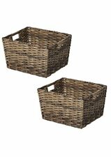 Woven Storage Basket Containers Clothes Toys Organizer Bin