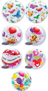 Qualatex Bubble Balloons Teddy Butterflys Hearts Valentine Special Offer