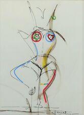 Tableau, dessin, peinture, original,contemporain, décoration, moderne, nu, danse