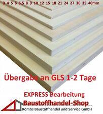 EXPRESSBEARBEITUNG Multiplexplatte Sperrholz Sperrholzplatte Birke Bastelholz