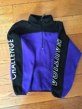 Nautica Challenge Vintage 1/4 Zip Fleece Jacket Mens S Purple  USA Competition